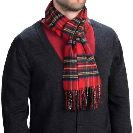 Johnstons of Elgin Royal Speyside Cashmere Scarf (For Men and Women) in Royal Stewart - Closeouts