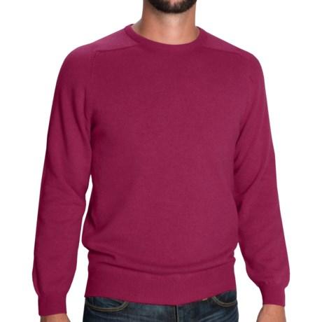 Johnstons of Elgin Scottish Cashmere Sweater (For Men) in Beaujolais