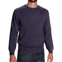 Johnstons of Elgin Scottish Cashmere Sweater (For Men) in Blueberry - Closeouts