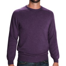 Johnstons of Elgin Scottish Cashmere Sweater (For Men) in Elderberry - Closeouts