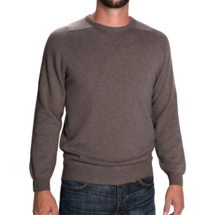 Johnstons of Elgin Scottish Cashmere Sweater (For Men) in Heath - Closeouts