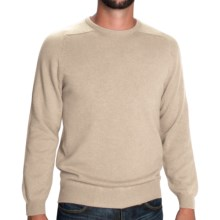 Johnstons of Elgin Scottish Cashmere Sweater (For Men) in Ivory - Closeouts