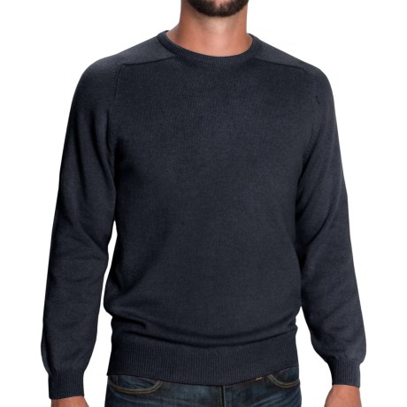 Johnstons of Elgin Scottish Cashmere Sweater (For Men) in Midnight
