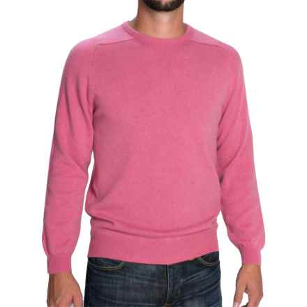Johnstons of Elgin Scottish Cashmere Sweater (For Men) in Old Rose - Closeouts