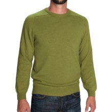 Johnstons of Elgin Scottish Cashmere Sweater (For Men) in Olive - Closeouts