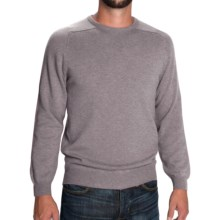 Johnstons of Elgin Scottish Cashmere Sweater (For Men) in Oyster - Closeouts