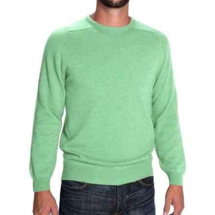 Johnstons of Elgin Scottish Cashmere Sweater (For Men) in Pistachio - Closeouts