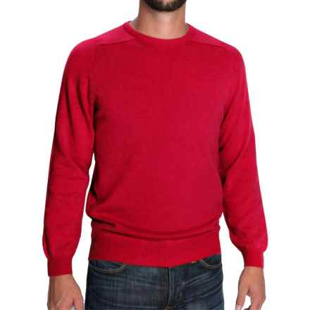 Johnstons of Elgin Scottish Cashmere Sweater (For Men) in Rosehip - Closeouts