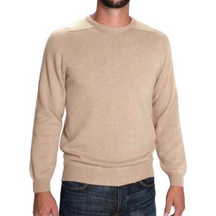 Johnstons of Elgin Scottish Cashmere Sweater (For Men) in Sand - Closeouts