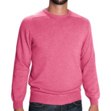 Johnstons of Elgin Scottish Cashmere Sweater (For Men) in Summer Rose - Closeouts