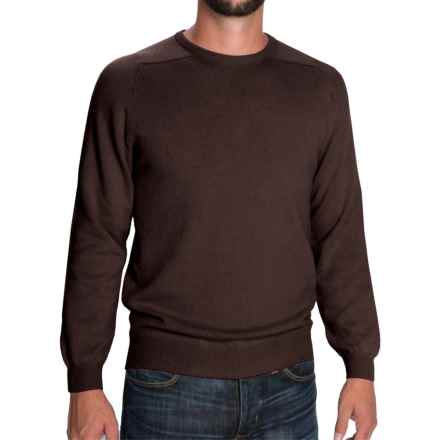 Johnstons of Elgin Scottish Cashmere Sweater (For Men) in Treacle - Closeouts