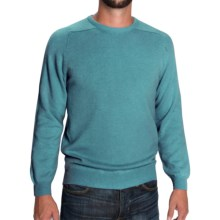 Johnstons of Elgin Scottish Cashmere Sweater (For Men) in Turquoise - Closeouts