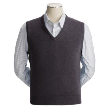 Johnstons of Elgin Scottish Cashmere Vest (For Men) in Charcoal - Closeouts