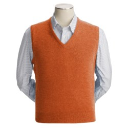 Johnstons of Elgin Scottish Cashmere Vest (For Men) in Duck Egg
