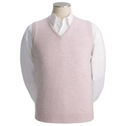 Johnstons of Elgin Scottish Cashmere Vest (For Men) in Crimson