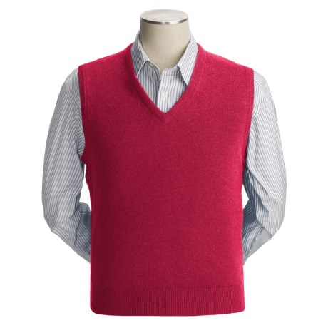 Johnstons of Elgin Scottish Cashmere Vest (For Men) in Crimson