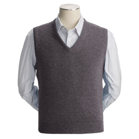 Johnstons of Elgin Scottish Cashmere Vest (For Men) in Cocoa