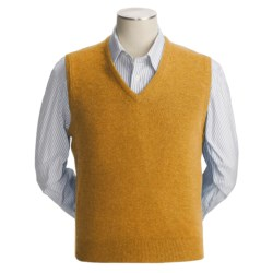 Johnstons of Elgin Scottish Cashmere Vest (For Men) in Gold