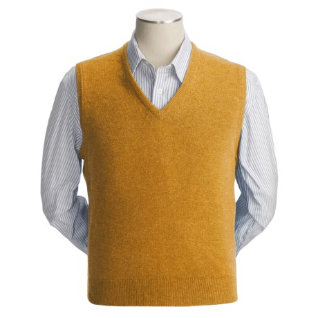 Johnstons of Elgin Scottish Cashmere Vest (For Men) in Charcoal