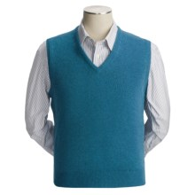 Johnstons of Elgin Scottish Cashmere Vest (For Men) in Kingfisher - Closeouts
