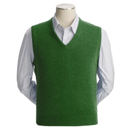 Johnstons of Elgin Scottish Cashmere Vest (For Men) in Meadow
