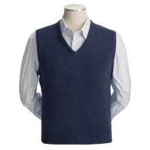 Johnstons of Elgin Scottish Cashmere Vest (For Men) in Navy - Closeouts