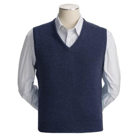 Johnstons of Elgin Scottish Cashmere Vest (For Men) in Navy