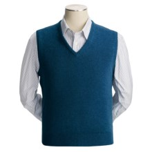 Johnstons of Elgin Scottish Cashmere Vest (For Men) in Sapphire - Closeouts