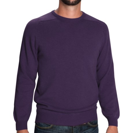 Johnstons of Elgin Sweater - Scottish Cashmere (For Men) in Blueberry