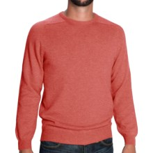 Johnstons of Elgin Sweater - Scottish Cashmere (For Men) in Coral - Closeouts