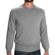 Johnstons of Elgin Sweater - Scottish Cashmere (For Men) in Light Grey - Closeouts