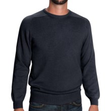 Johnstons of Elgin Sweater - Scottish Cashmere (For Men) in Midnight - Closeouts