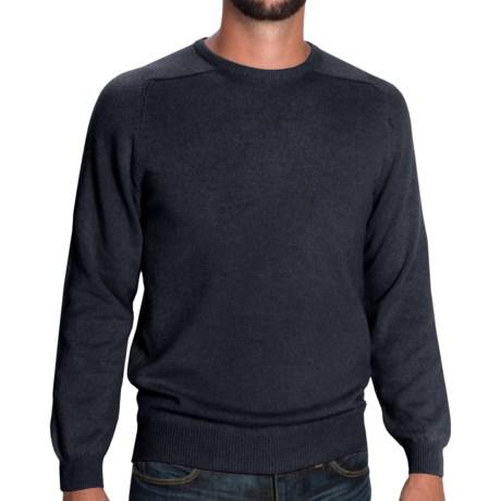 Johnstons of Elgin Sweater - Scottish Cashmere (For Men) in Midnight