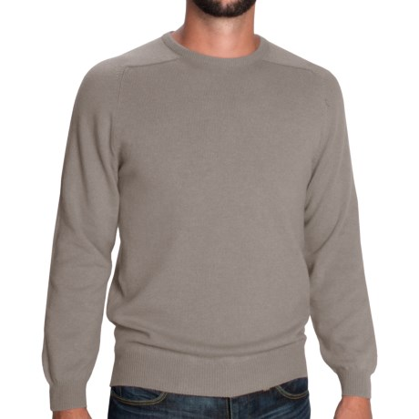 Johnstons of Elgin Sweater - Scottish Cashmere (For Men) in Sage Heather