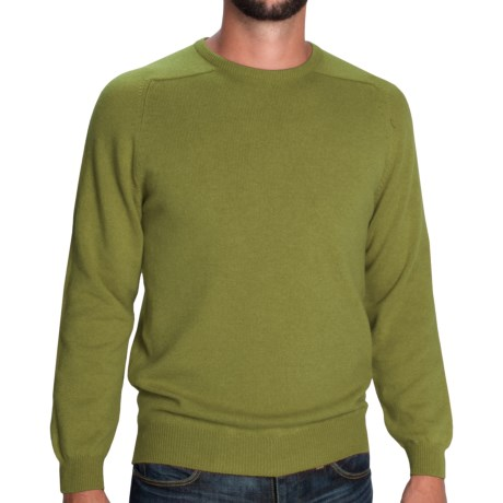 Johnstons of Elgin Sweater - Scottish Cashmere (For Men) in Olive