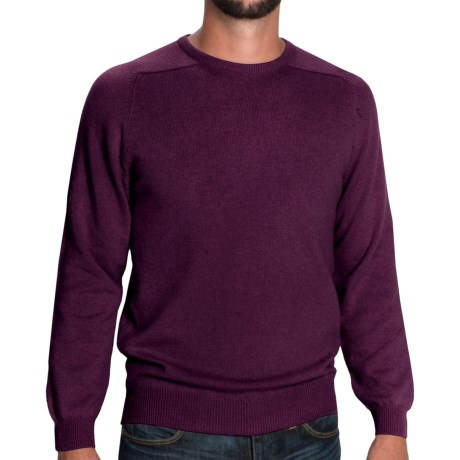 Johnstons of Elgin Sweater - Scottish Cashmere (For Men) in Rhubarb