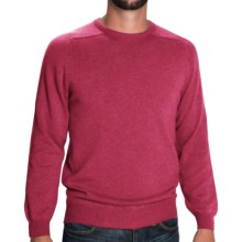 Johnstons of Elgin Sweater - Scottish Cashmere (For Men) in Rhubarb - Closeouts