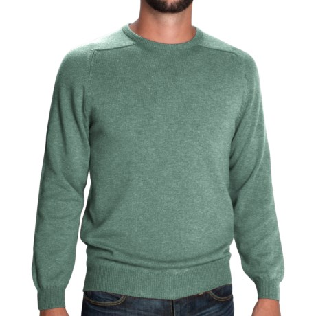 Johnstons of Elgin Sweater - Scottish Cashmere (For Men) in Coral