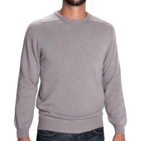 Johnstons of Elgin Sweater - Scottish Cashmere (For Men) in Silver