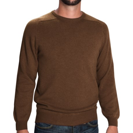 Johnstons of Elgin Sweater - Scottish Cashmere (For Men) in Tobacco
