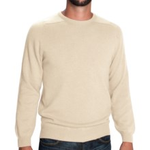 Johnstons of Elgin Sweater - Scottish Cashmere (For Men) in Winter White - Closeouts