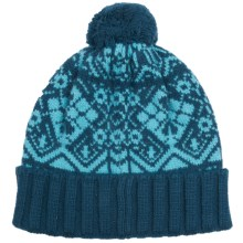 Johnstons of Elgin Tapestry Hat - Merino Wool-Angora (For Women) in Teal/Turquoise - Closeouts