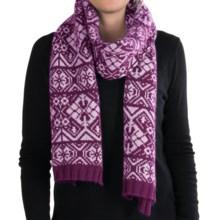 Johnstons of Elgin Tapestry Scarf - Merino Wool-Angora (For Women) in Magenta/Rosebud - Closeouts
