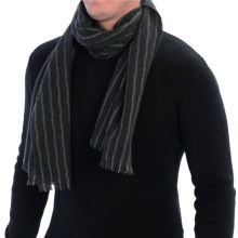 Johnstons of Elgin Tumbled Wrap Scarf - Merino Wool-Cashmere-Silk (For Men) in Charcoal/Taupe - Closeouts