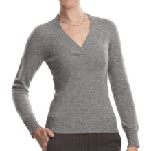 Johnstons of Elgin V-Neck Sweater - Cashmere (For Women) in Flint - Closeouts