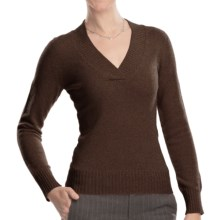 Johnstons of Elgin V-Neck Sweater - Cashmere (For Women) in Treacle - Closeouts