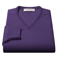 Johnstons of Elgin V-Neck Sweater - Scottish Cashmere (For Men) in African Violet - Closeouts