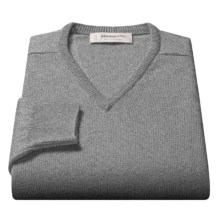 Johnstons of Elgin V-Neck Sweater - Scottish Cashmere (For Men) in Flint - Closeouts