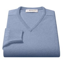 Johnstons of Elgin V-Neck Sweater - Scottish Cashmere (For Men) in Fresco - Closeouts