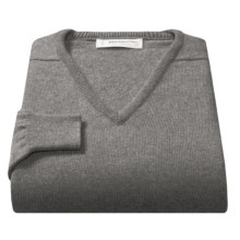 Johnstons of Elgin V-Neck Sweater - Scottish Cashmere (For Men) in Light Grey - Closeouts